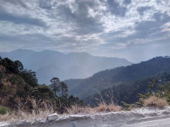 View on our way to Binsar